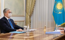 "The President receives Akhmetzhan Yessimov, Chief Executive Officer of the Sovereign Wealth Fund ""Samruk-Kazyna"" JSC"