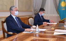 The Head of State receives Chairman of the Agency for Protection and Development of Competition Serik Zhumangarin