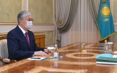 The President receives Foreign Minister Mukhtar Tileuberdi