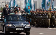 Attendance at the military parade dedicated to Defenders of the Fatherland Day