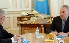 Meeting with Director of the Institute of Literature and Art at the Ministry of Education and  Science Ualikhan Kalizhanov