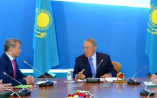 Meeting with Sberbank of RussiaCEO and Chairman of the Board German Gref within the framework of the foreign investors council under the President of Kazakhstan