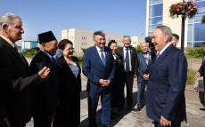 Visit to akimat and complex of administrative buildings in Nauryzbay district