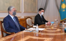 The Head of State receives Chairman of the Supreme Court Zhakip Asanov